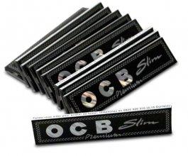 Papírky OCB BLACK SLIM, 32ks v balení