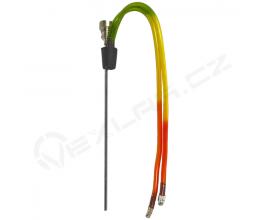 KONVERTOR - kovový kotlík s dvěmi akrylovými hadičkami, rasta