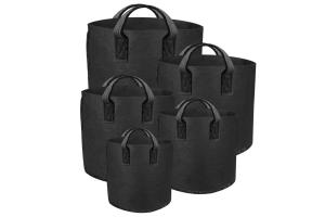 GUTPot - textilní květináč černý, 114L