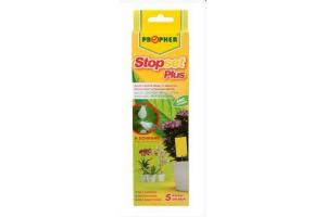 Stopset PLUS - žluté lepové desky se zapichováním do květináče
