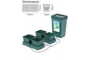 Autopot Easy2grow Kit s 4 květináči, včetně 47L plastové nádrže