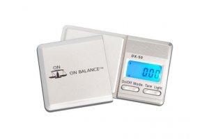 Váha On Balance DX Scale 50g/0,01g, stříbrná