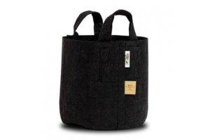 ROOT POUCH BLACK - Textilní květináč 22L