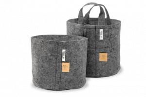 ROOT POUCH GREY - Textilní květináč 22L