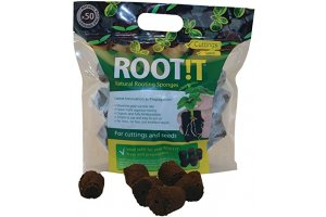 ROOT IT Natural Rooting Sponges 50 Refill Bag